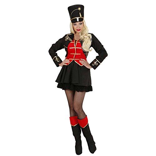 NET TOYS Déguisement de dompteuse de Cirque Costume d'écuyère M 40/42 Uniforme de Cirque dresseuse Costume Femme Foire Uniforme Dame Tenue de Carnaval dresseuse de Lions Habit Sexy Carnaval
