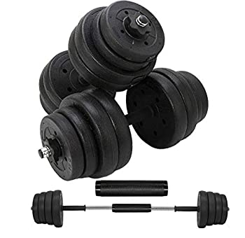Updated Adjustable 66LB Dumbbells Weights Set with Metal Rod for Barbell,Dumbbells Barbell set for Lifting,Bodybuilding Training & workout Solid Dumbbells Barbell Free Weights With Non-Slip Handles