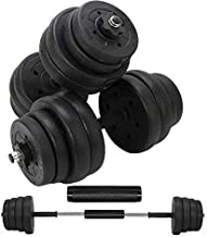 Updated Adjustable 66LB Dumbbells Weights Set with Metal Rod for Barbell,Dumbbells Barbell set for Lifting,Bodybuilding Training & workout, Solid Dumbbells Barbell Free Weights With Non-Slip Handles
