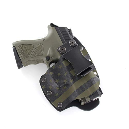 OD Green & Black USA IWB Hybrid Concealed Carry Holster (Right-Hand, CZ 75 Compact P-01)