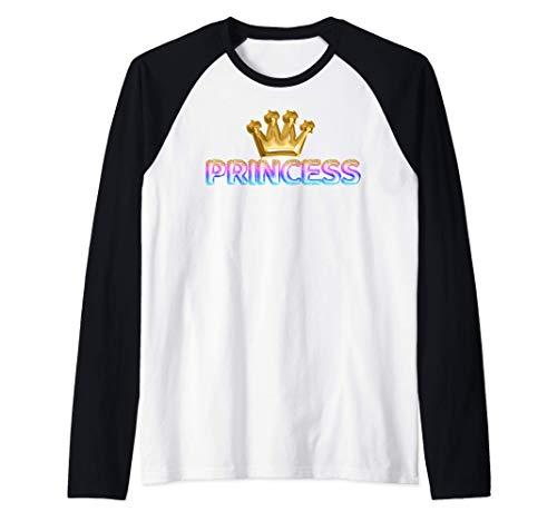Globos de fiesta de cumpleaños de princesa sirena niñas Camiseta Manga Raglan