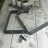Rustic Scaffold Board Heavy Duty Shelf Brackets/Shelving Industrial Iron/Steel (Pair) by <span class='highlight'>BMF</span> <span class='highlight'>Direct</span>® (Double 225mm)