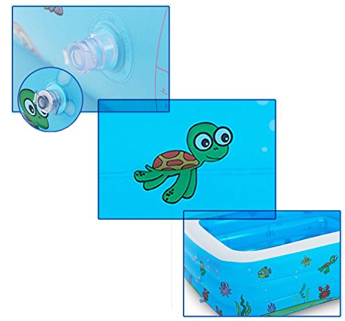 Planschbecken, 110 x 90 x 40cm Family Swim Center Lounge Pool Für Kinder, Kleinkinder Ab 6 Jahren, Outdoor, Garten, Garten, Sommerwasserparty (Blau)