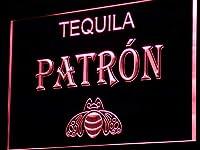 Patron Tequila Bar Beer Pub LED看板 ネオンサイン ライト 電飾 広告用標識 W30cm x H20cm レッド