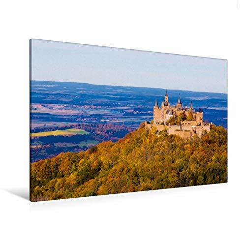 CALVENDO Premium Textil-Leinwand 120 x 80 cm Quer-Format Burg Hohenzollern bei Hechingen, Leinwanddruck von Werner Dieterich