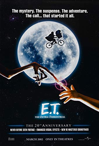 E.T. The Extra Terrestrial Movie Poster 2 Sided Original 20th Ann. Advance 27x40