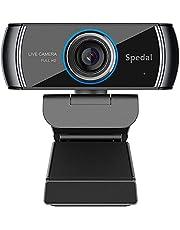 Spedal Full HD Webcam 1080p, Schoonheid Live Streaming Webcam, Computer Laptop Camera voor OBS Xbox XSplit Skype Facebook, Compatibel voor Mac OS Windows 10/8/7