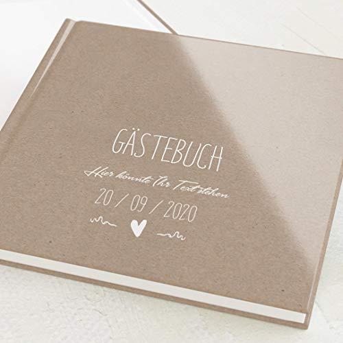 sendmoments Gästebuch für Feste, Passend, personalisiert mit Ihrem Text, hochwertige...