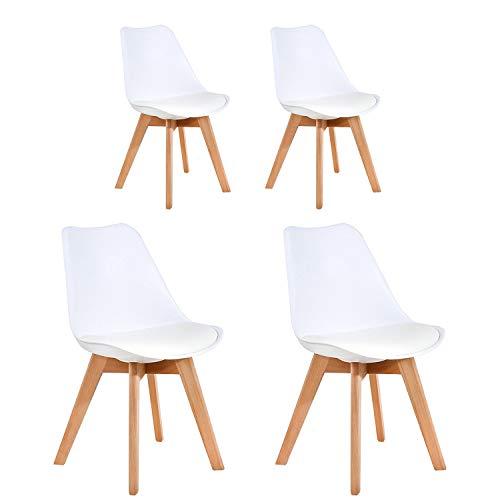 Silla de comedor de estilo simple cómoda silla de recepción silla de maquillaje de moda adecuada para dormitorio sala de estar comedor estudio oficina área de recepción cafetería sillón (Blanco)