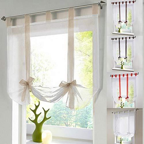 Eastery Raffrollo Schlaufen Gardine Vorhang Transparent Für Wohnzimmer Hochzeit Party Deko Einfacher Stil (L 100 * 140Cm Beige) (Color : Beige, Size : M)