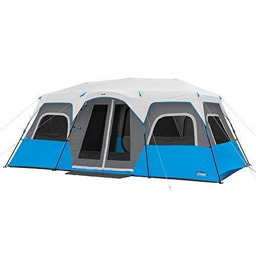 Core 6 Person / 9 Person / 10 Person / 12 Person Lighted Instant Cabin Tents (12 Person)