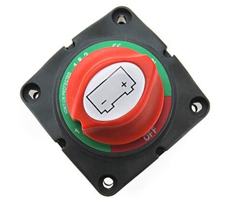 Yinettech - Interruptor principal de batería de 4 posiciones, compatible con interruptor Narva doble aislado Kill