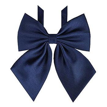 Bowtie Women s Japan Lolita JK Uniform Embroidery Adjustable Necktie School Student Sailor Suit Bowknot Pre-tied Bow Tie PTK04  Navy