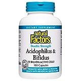 Natural Factors -Acidophilus and Bifidus Double Strength, 10 Billion Active Cells, 180 Capsules