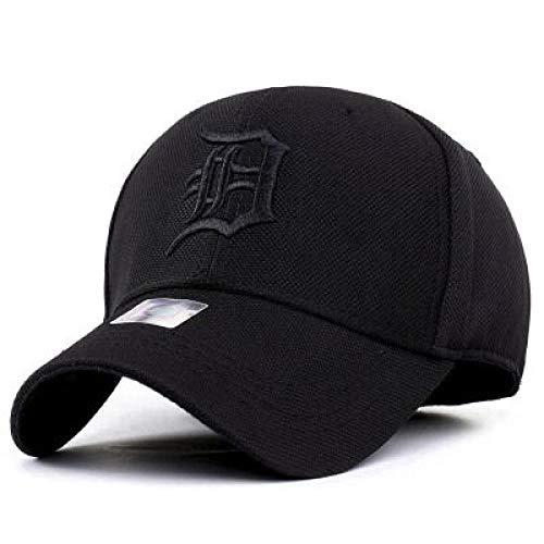 Gorras de béisbol Sombrero De Béisbol De Color Sólido Simple Hombres Gorra De Secado Rápido De Verano Sombrero De Sol Deportivo Coreano Otoño Al Aire Libre 55-59Cm Negro