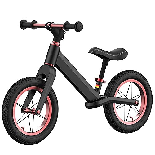 Gymqian Niño Corriendo Bicicleta 12 Pulgadas Balance Bicicleta Deporte Niños Bicicleta Entrenamiento Ligero Bicicleta Niño Bicicleta de Entrenamiento para Niños para Niños a 1,5-6 Años,Negro