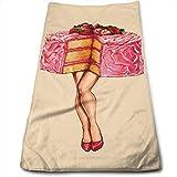 Bert-Collins Towel Pin Up Girl Strawberry Cake Toallas de Playa Toallas de Playa 80x130cm...