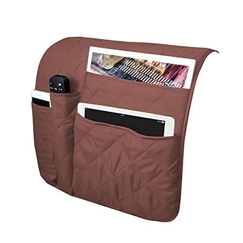 SZBLYY Reposabrazos Sofa Sofá Armés Organizador Durable Impermeable Caddy Storage Sofá para Control Remoto Tabletas de teléfono Celular Revistas Gafas (Color : Brown)