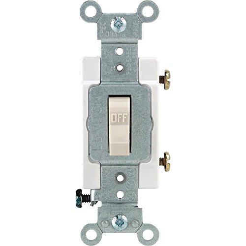 Leviton - Interruptor basculante (20 A, 120 V, luz de almendra, caja Csa)