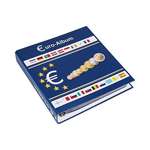 SAFE 5300 Euro Münzen Sammelalbum EU Länder + 10 Münzhüllen 8563 für 20x Euro KMS Kursmünzensätze + Vordruckblätter 1 cent bis 2 Euro Münzen - Münzsammelalbum für Ihre Coin Collection