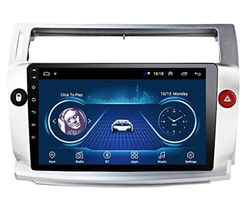 ZHANGYY Sat Car Stereo GPS Navegación Audio al Media FM Unidad Principal Multimedia - Aplicable Compatible con Citroen C4 Quatre 2004-2009, 10.1 Pulgadas Android Auto Player Radio