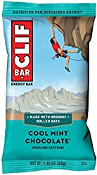 CLIF BAR Protein Energy Bar, Cool Mint Chocolate, With Caffeine, 1 Count