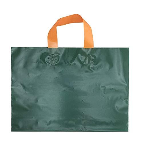 dagelijkse benodigdheden Effen kleur plastic tote tas, platte mond PE kleding opbergtas, geschikt voor kledingopslag, supermarkt winkelen, 50 stks