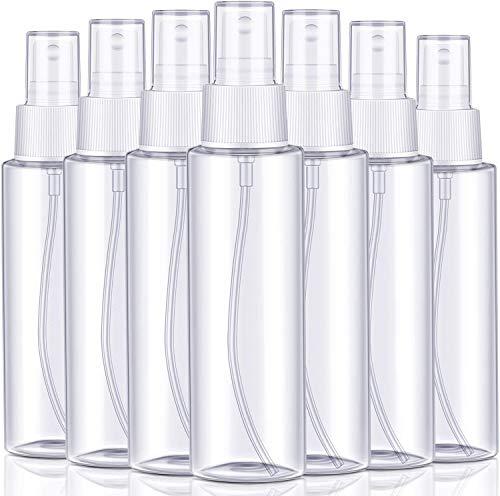 Bote Spray Pulverizador,8 PCS Tomizador de Viaje Botes Viaje Transparente Botella Vacía de Spray Portátil Pequeño Atomizador para Perfumes Aceites Esenciales Líquidos Aromaterapia 100ml