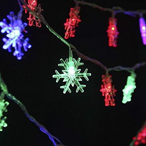 Cadena de Hadas Luces de decoración Luces de decoración 3/6 / 10M LED Copo de Nieve Cadena de luz Guirnalda de Navidad Hada Bola de luz LED Linternas Navidad al Aire Libre Decoración del Ban