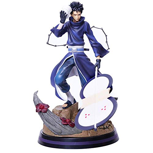 SXXYTCWL Ltong Naruto Anime Figures Uchiha Obito Shippuden PVC-Spielzeug-Modell Action-Figur Uzumaki Naruto Figma 31cm Uchiha Obito Madara Juguetes jianyou