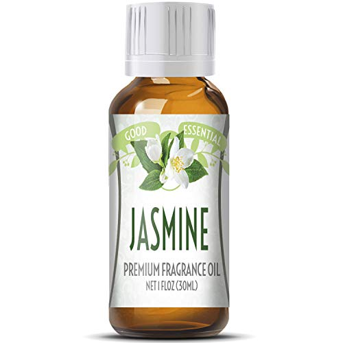 Jasmine Scented Oil by Good Essential (Huge 1oz Bottle - Premium Grade Fragrance Oil) - Perfect for Aromatherapy, Soaps, Candles, Slime, Lotions, and More!