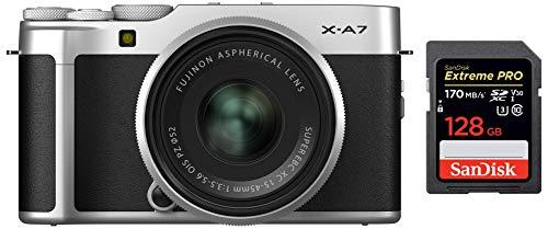Fujifilm X-A7 24.2 MP Mirrorless Camera with XC 15-45 mm Lens (APS-C Sensor, Large 3.5'...