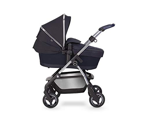 Silver Cross Wayfarer 2020 Travel System, Lightweight Baby Pram for Newborn to Toddler, with Reclinable Reversible Pushchair Seat and Carrycot - Sapphire