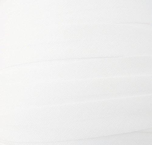 Lanière biais/blanc-façade 20 mm/50 m (coton)