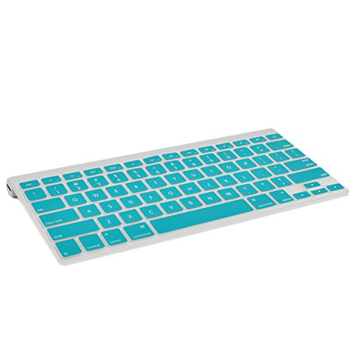 TOP CASE Silicone Cover Skin Compatible with Apple Wireless Keyboard with TOP CASE Mouse Pad (Apple Wireless Keyboard, Aqua Blue)