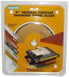 Plasplugs RDW150US 6-Inch General Purpose Diamond Saw Blade with 7/8-Inch Arbor for DWW150US Tile Saw