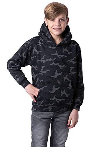 Mivaro Sudadera de camuflaje con capucha para niño gris 98