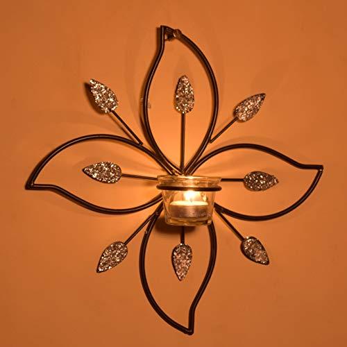 Hashcart - Portavelas de pared con forma de cono, soporte de metal para velas, soporte de vela, portavelas de diseño, portavelas de velas para casa, sala de estar y oficina