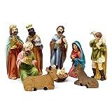 Krippenfiguren Set mit 9 Figuren (11 cm) für die traditionelle Weihnachts Krippe