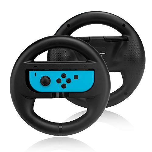 TechKen Switch Joycon Lenkrad*2, Joy-Con Racing Wheel Switch JoyCon Griff Lenkrad Switch Racing Lenkrad Mario Kart Rennspiel Zubehör Game Lenkrad für Switch Joycon,Größere Größe,16 * 16 * 3,7 cm