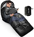 IFORREST Sleeping Bag for Adults Camping - Cold & Warm Weather Wearable Thickened Backpacking Sleep Bed - Single Person 40 inches Extra-Wide, King Size 2XL