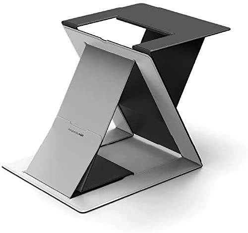 MOFT Z ノートパソコンスタンド ノートPCスタンド PCデスクワークに対応 お手軽にスタンディングワークを実現 テレワークや在宅勤務に最適 折りたたみ 収納時の薄さ1.5cm 耐重10kg 軽量890g 多角度調節 簡単に切替可能 17インチまで対応 (グレー)