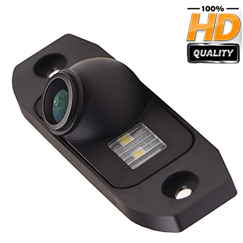 HD 1280x720p Farbkamera Wasserdicht Rückfahrkamera kennzeichenbeleuchtung Kamera KFZ Rückfahrsystem mit Einparkhilfe Nachtsicht für Volvo S90/S80L/S40/S80 V60/XC90/XC60 C30/C70/S60/V40R V50/ XC70