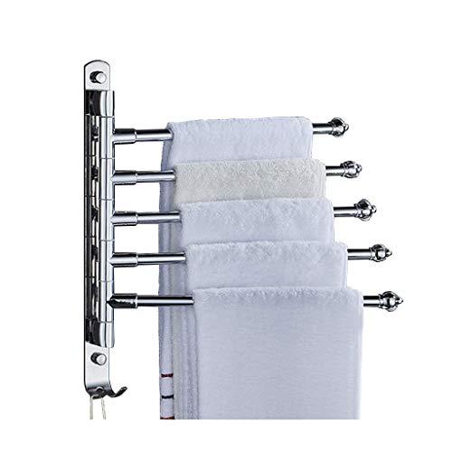 FLL Aluminiumlegierung Badewanne Rack Wand-Handtuchhalter, abnehmbare Klapphandtuchhalter, Handtuchhalter Schaukel für Küche Bad Toilette Rotierende Handtuchhalter.