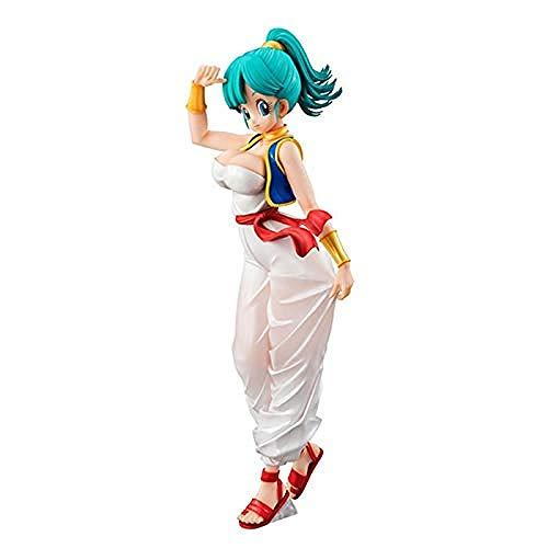 Desconocido Bulma Figura de acción Goku Gogeta Estatua Figura de acción Bulma Figurita PVC Estatua Anime Chica Ropa árabe 8 Pulgadas