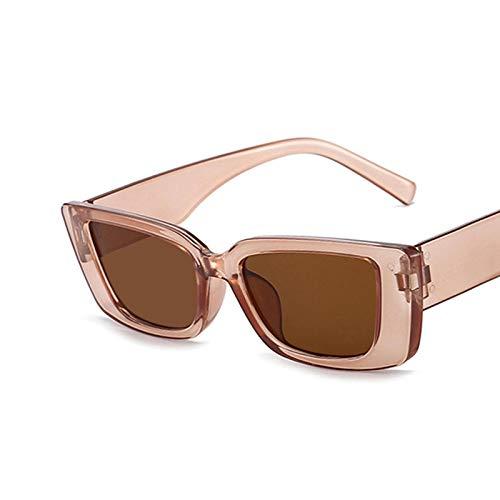ShSnnwrl Gafas De Moda Gafas De Sol Gafas De Sol Cuadradas De Moda Viajes Vintage Retro Pequeñas Mujeres Gafas De Sol Rectangulares Uv400 C4Darkbrown