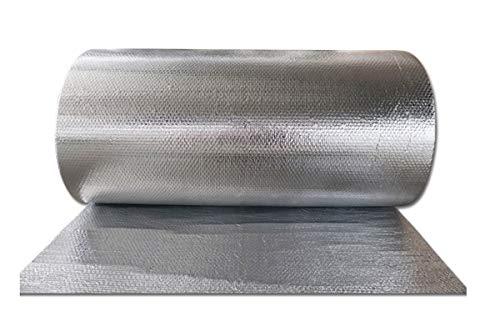 Autoadhesivo Rollo Aislante Térmico De Aluminio Doble Cara Burbujas Ideal para Paredes Caravanas Y Áticos Aislamiento Termico Aluminio Reflexivo Multicapa De Burbujas De Aire para Techo Y Fachada