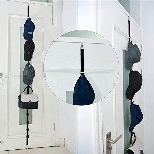 Umhängeband zum Aufhängen an der Tür, verstellbar, nahtlos, mit 8 Haken, Multifunktionsriemen, Kleider-Organizer