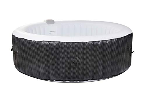 O'Spazia Rattan Spa Gonflable 4 Places, Gris