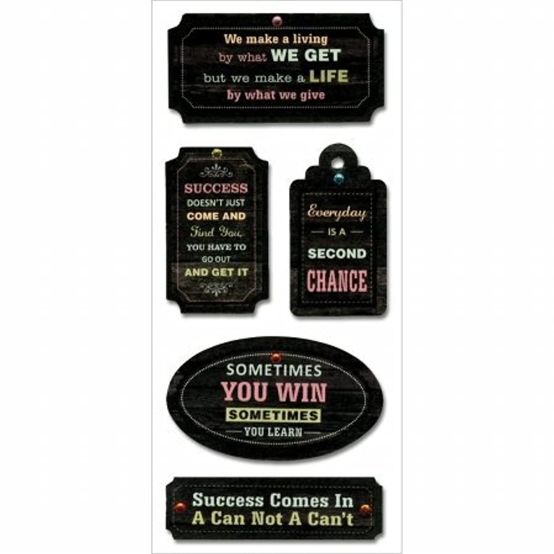 Multicraft Imports SS890B What We Give Craft Chalk Inspirational Tags, Multicolor